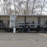 2x 4k Projektoren auf einem Truck FOH